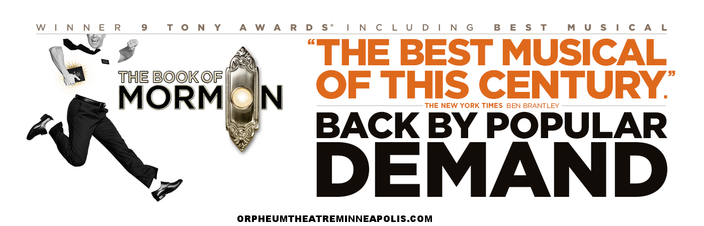 book of mormon orpheum theatre minneapolis