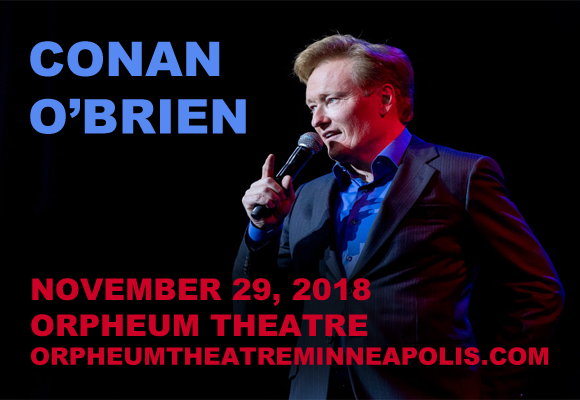 Conan O'Brien at Orpheum Theatre Minneapolis