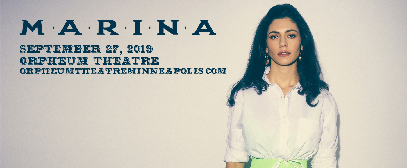Marina at Orpheum Theatre Minneapolis