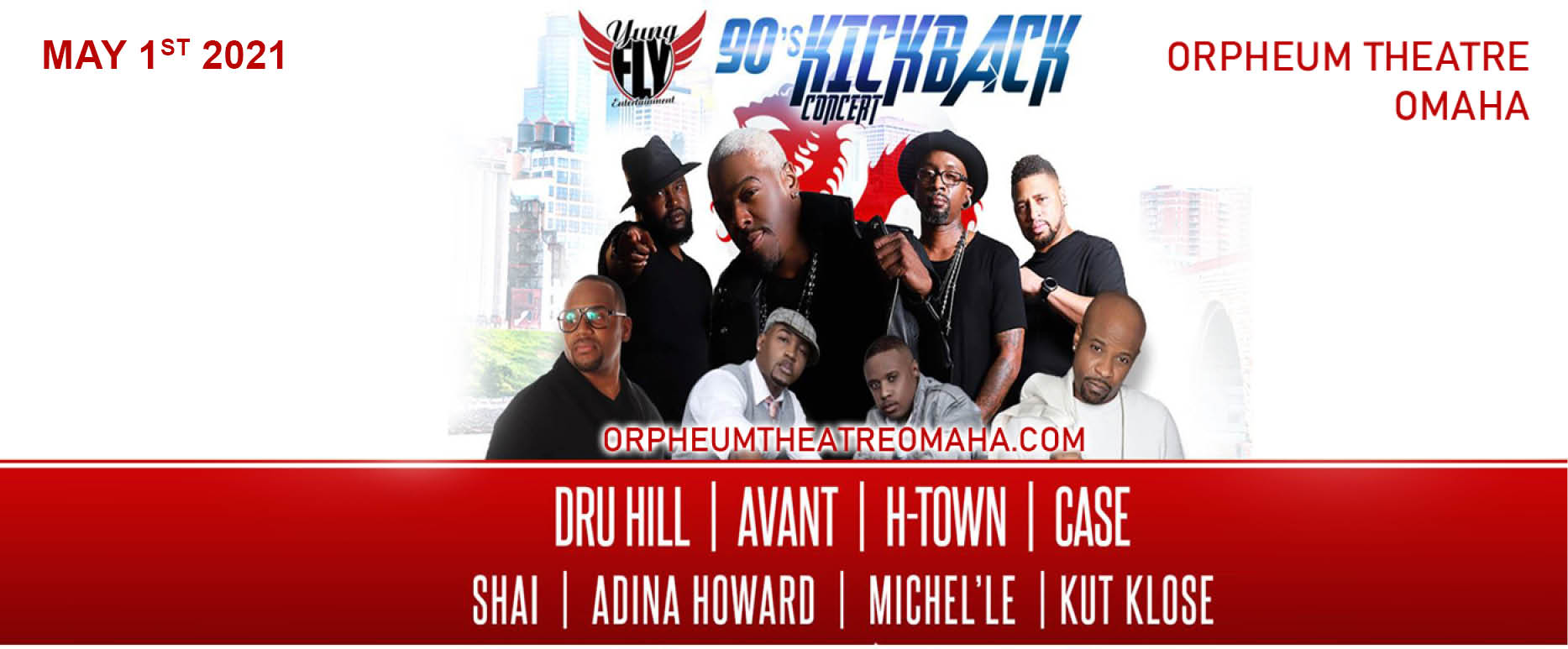 90s Kickback Concert: Dru Hill, Avant, H-Town & Case at Orpheum Theatre Minneapolis