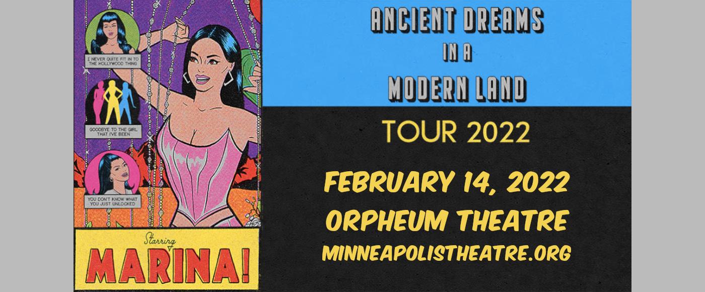 Marina at Orpheum Theatre Minneapolis